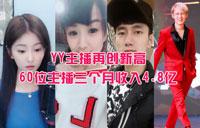 YY主播收入再创新高,头部主播是主力,60位主播3月累积4.8亿