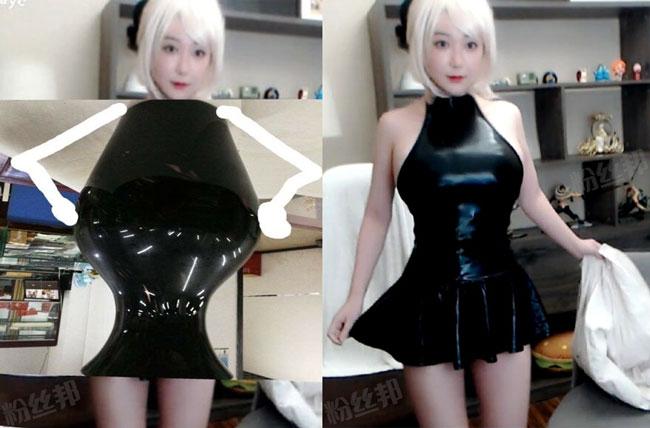 """刘飞儿周年庆大发福利,小黑裙COS造型""""翻车"""",粉丝看了只想笑"""