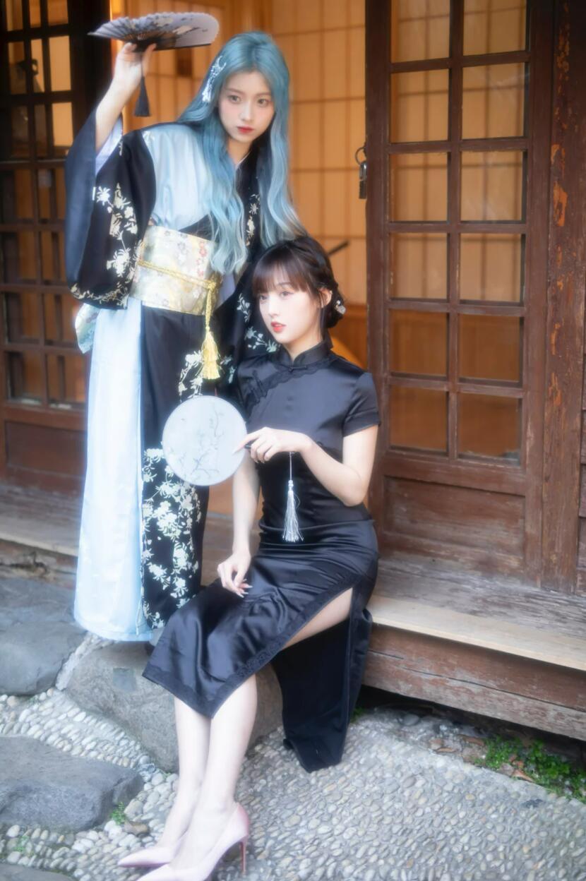 抖音欧尼熊旗袍写真图片,网红美女欧尼熊林越洲个人生活照片